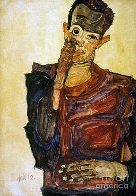 Painter Photograph - Egon Schiele (1890-1918) by Granger