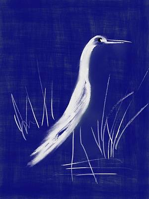 Egret Abstract Original by Frank Bright