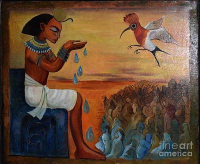 Ts Painting - Egypt Universe Cries And What God Created People by Tea Mikadze