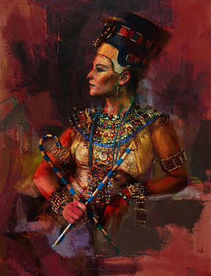 African Motifs Painting - Egyptian Culture 15b by Maryam Mughal