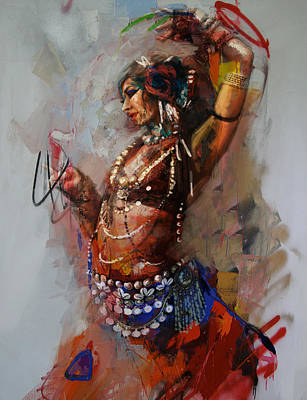 Culture Painting - Egyptian Culture 16b  by Mahnoor Shah