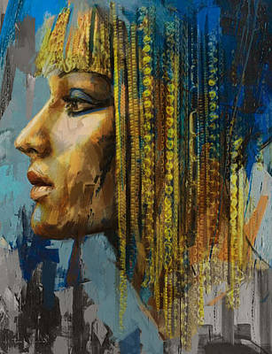 African Motifs Painting - Egyptian Culture 1b by Mahnoor Shah