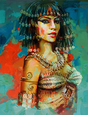 African Motifs Painting - Egyptian Culture 2 by Maryam Mughal
