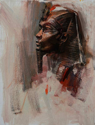 Culture Painting - Egyptian Culture 6b by Maryam Mughal