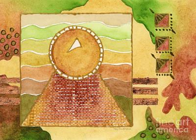 Earthtone Painting - Egyptian Sun I by Amy Kirkpatrick