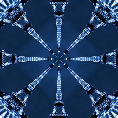 Abstract Pop Digital Art - Eiffel Art 17 by Mike McGlothlen