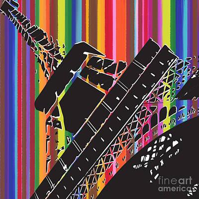 Painting - Eiffel Rainbow by Carla Bank