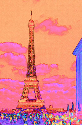 Eiffel Sunrise Paris			 Print by Ann Johndro-Collins