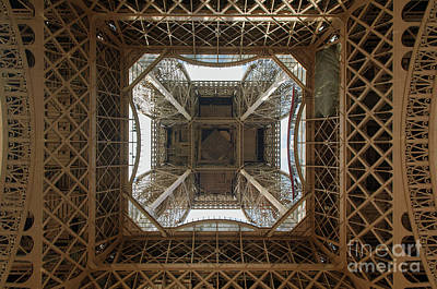 Eiffel Tower Photograph - Eiffel Tower Abstract by Paul Warburton
