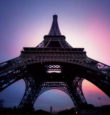 Built Structure Photograph - Eiffel Tower At Sunset by Zeb Andrews