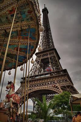 Paris Photograph - Eiffel Tower Carousel 001 by Lance Vaughn