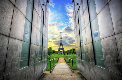 Distant Photograph - Eiffel Tower by Haaghun