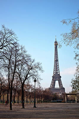 Bare Tree Photograph - Eiffel Tower In Paris by Tuan Tran