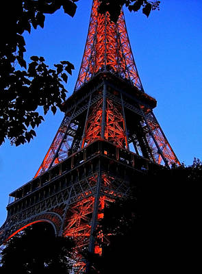 Eiffel Tower Print by Juergen Weiss