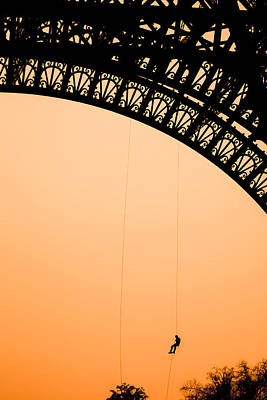 Eiffel Tower Workman Print by Nila Newsom