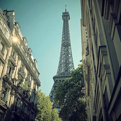 Eiffel Tower Print by Louise LeGresley