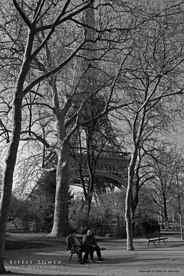 Eiffel Tower Print by Obi Martinez