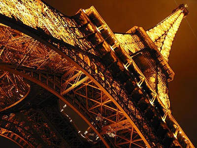 Eiffel Tower Paris France Print by Gene Sizemore