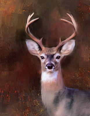 With Texture Painting - Eight Point In Autumn by Jai Johnson