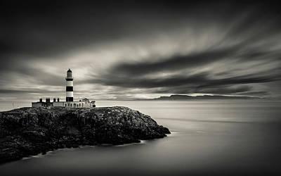 Eilean Glas Lighthouse Print by Dave Bowman