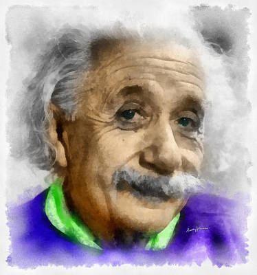 Einstein Print by Anthony Caruso