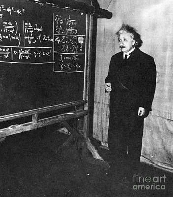 Paradox Photograph - Einstein At Princeton University by Science Source