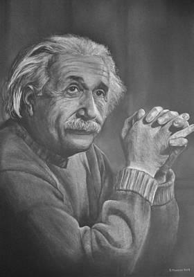 Einstein Drawing - Einstein by David Murphy
