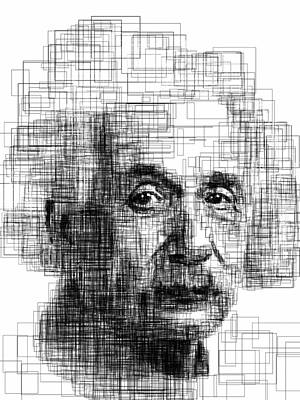 Portrait Drawing - Einstein  by Harold Belarmino