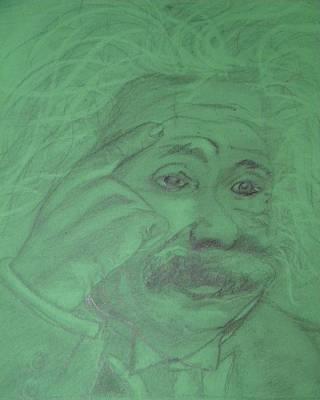 Einstein Print by Manuela Constantin