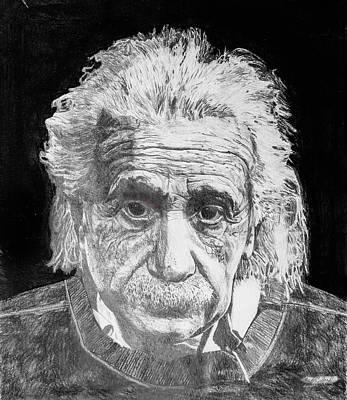 Einstein Drawing - Einstein by Mark W Ballard