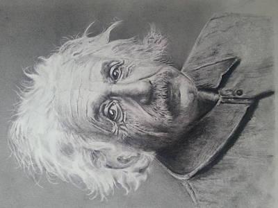 Einstein Drawing - Einstein by Mary Berryhill
