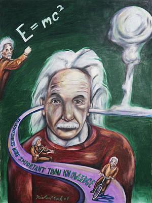 Einstein Drawing - Einstein by Michael Cook