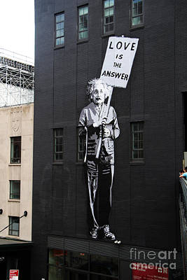 Einstein Painting And Quote Print by Nishanth Gopinathan