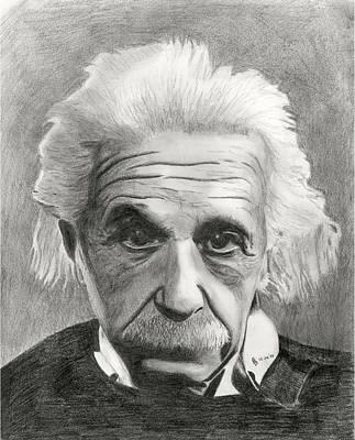 Einstein's Eyes Print by Charles Vogan