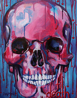 Skull Painting - El Corazon by Julia Pappas