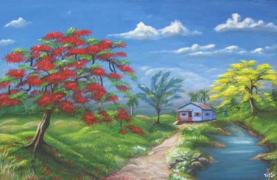 Casita Painting - El Encanto by Toyo Perez