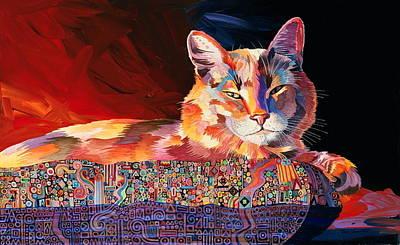 Abstract Realism Painting - El Gato Sonata by Bob Coonts