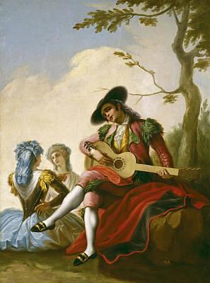 Ramon Bayeu Painting - El Majo De La Guitarra by Ramon Bayeu