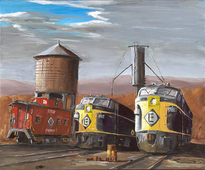 Railroad Painting - El Power by Christopher Jenkins