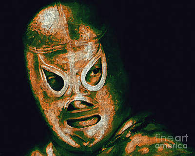 Wwe Photograph - El Santo The Masked Wrestler 20130218 by Wingsdomain Art and Photography