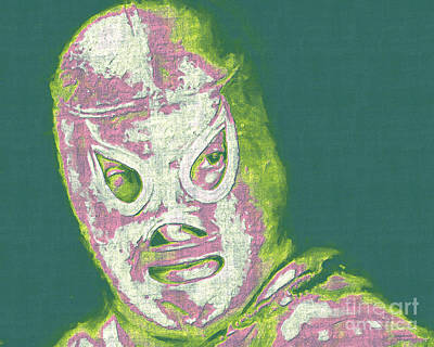 Wingsdomain Digital Art - El Santo The Masked Wrestler 20130218v2m80 by Wingsdomain Art and Photography