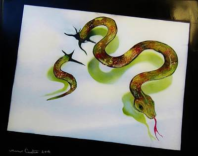 Viper Painting - El Serpiente  by Mario Carta