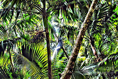 San Juan Digital Art - El Yunque Canopy by Carey Chen