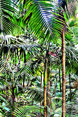 San Juan Digital Art - El Yunque Rainforest 2 by Carey Chen