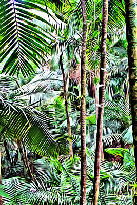 San Juan Digital Art - El Yunque Rainforest 3 by Carey Chen