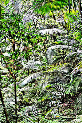 San Juan Digital Art - El Yunque Rainforest 4 by Carey Chen