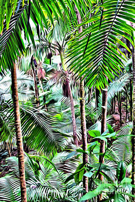 San Juan Digital Art - El Yunque Rainforest 5 by Carey Chen