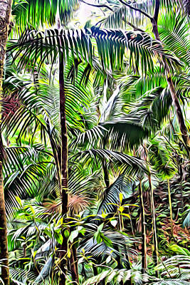San Juan Digital Art - El Yunque Rainforest 6 by Carey Chen