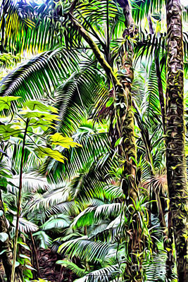 San Juan Digital Art - El Yunque Rainforest 7  by Carey Chen