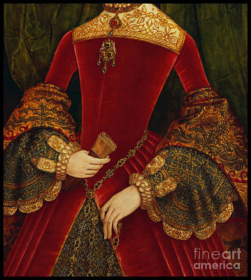 Elaborate Painting - Elaborately Embroidered Historical Fashion Costume Detail by Tina Lavoie
